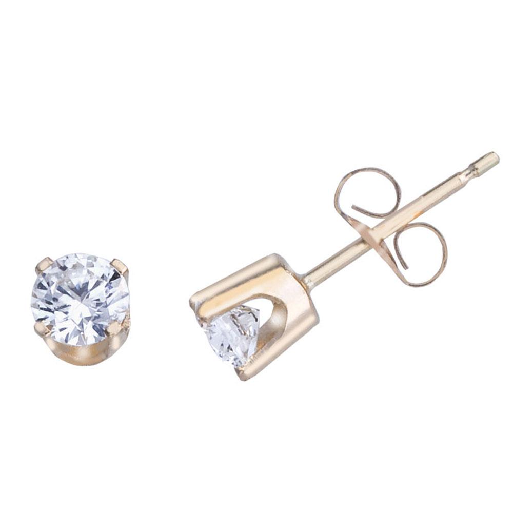 14k Yellow Gold 0.40 Ct Diamond Stud Earrings