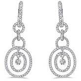 14K White Gold .92 ct Dashing Diamonds Earrings