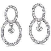 14K White Gold .70 ct Dashing Diamonds Earrings