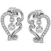 14K White Gold .60 ct Dashing Diamonds Earrings