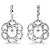 14K White Gold .85 ct Dashing Diamonds Earrings