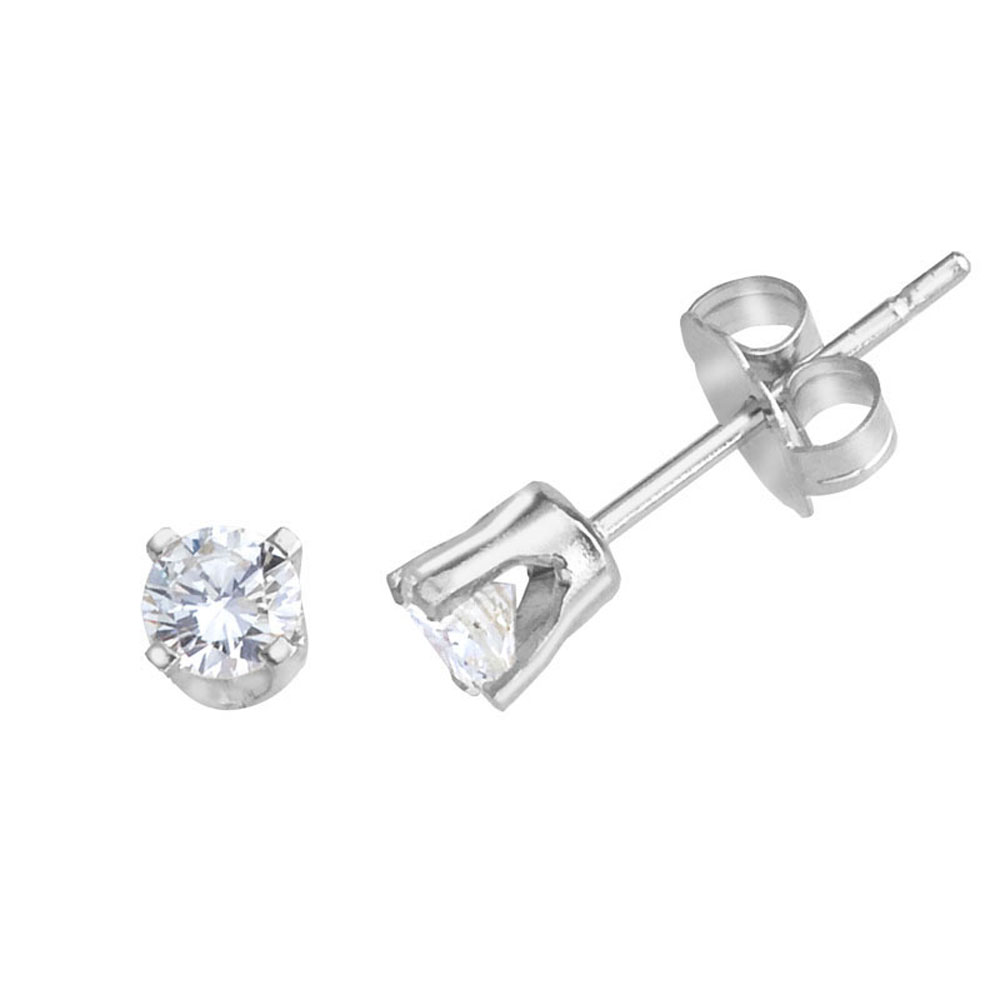 14k White Gold 0.33 Ct Diamond Stud Earrings