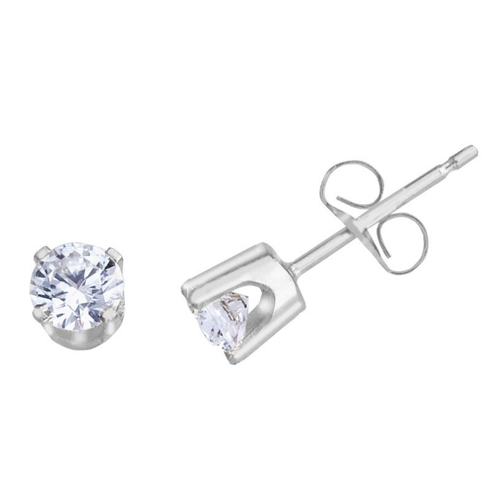 14k White Gold 0.40 Ct Diamond Stud Earrings