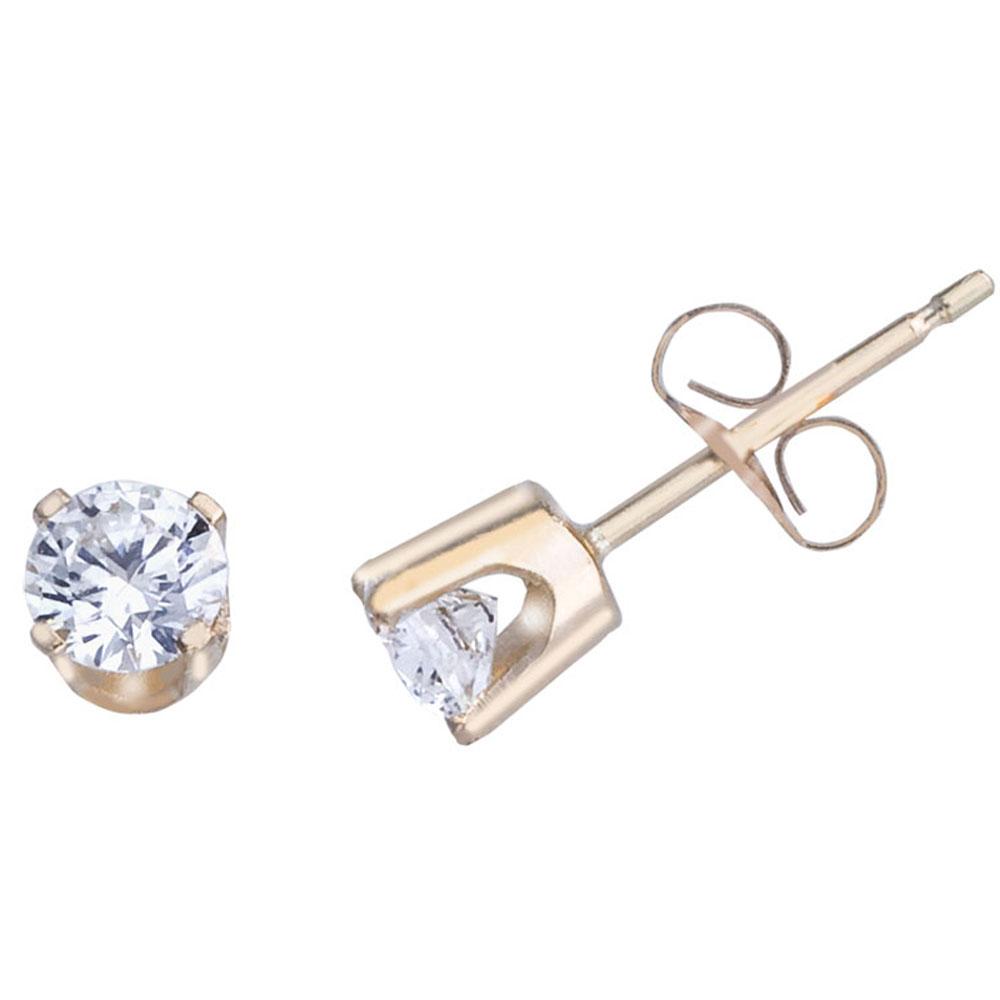 14k Yellow Gold 0.50 Ct Diamond Stud Earrings