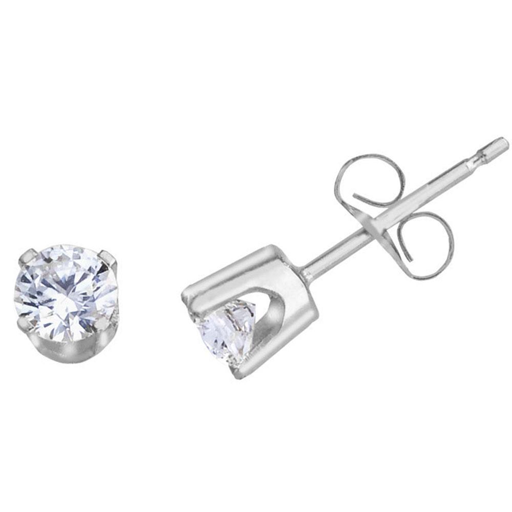 14k White Gold 0.50 Ct Diamond Stud Earrings