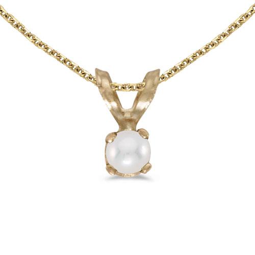 14k Yellow Gold Pearl Pendant