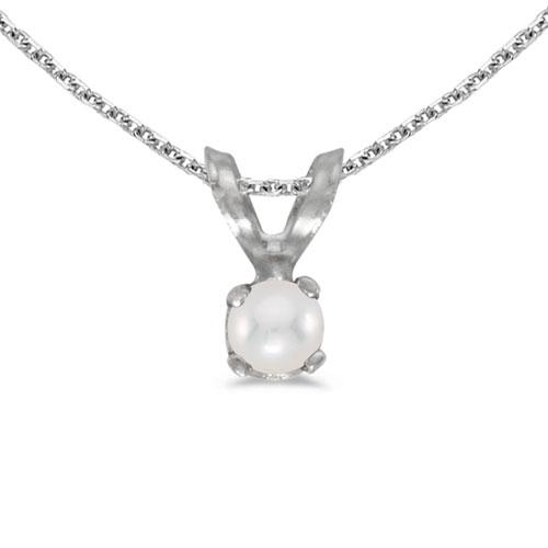14k White Gold Pearl Pendant