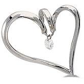 14K White Gold Diamond Dashing Diamonds Pendant