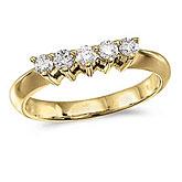 14k Yellow Gold 0.33 Ct Diamond Wrap Band