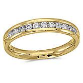 14K Yellow Gold Diamond Diamond Band Ring