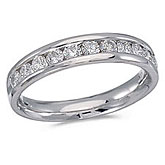 14K White Gold Diamond Diamond Band Ring