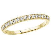 14K Yellow Gold Prong Set Diamond Band Ring