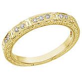14K White Gold Bridal Princess Diamond Ring Band