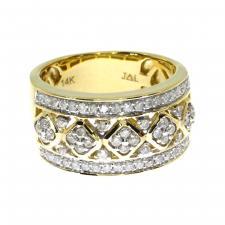 14k  Yellow Gold Diamond Fashion Band