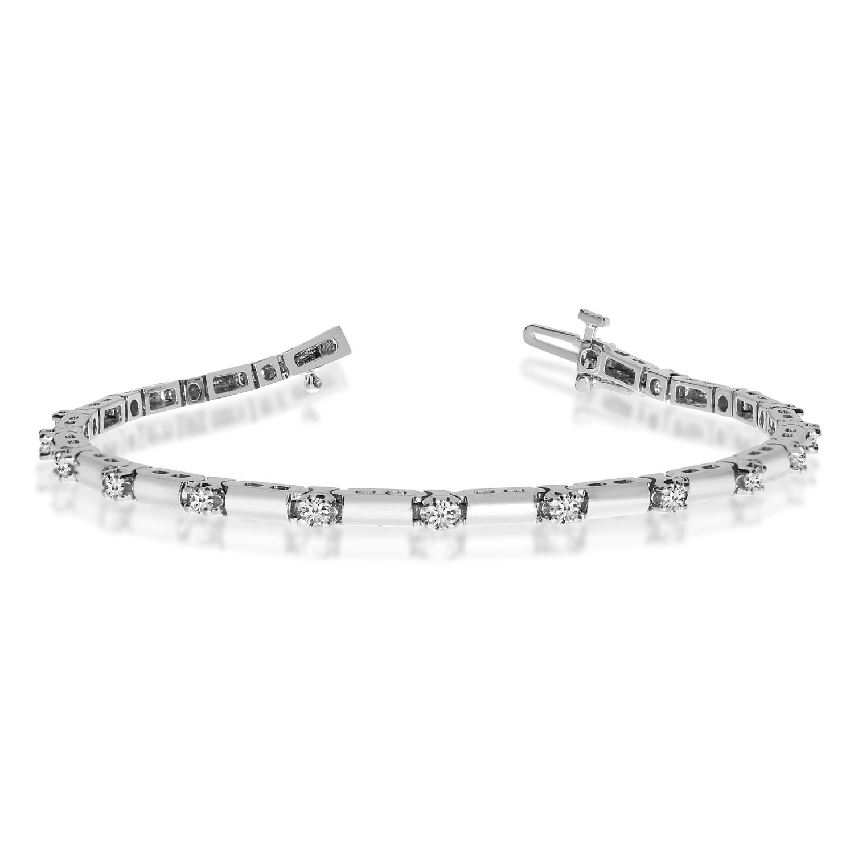 14K White Gold Diamond Bracelet